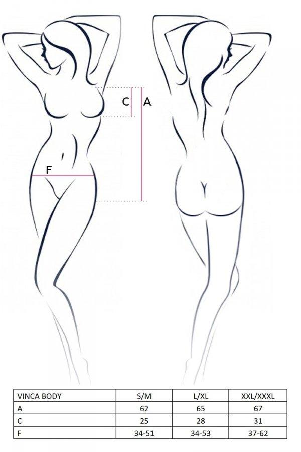 VINCA BODY czarne body