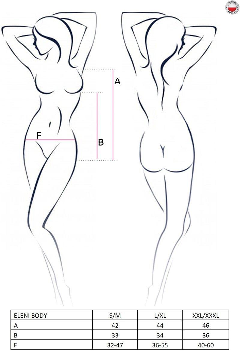 ELENI BODY białe body