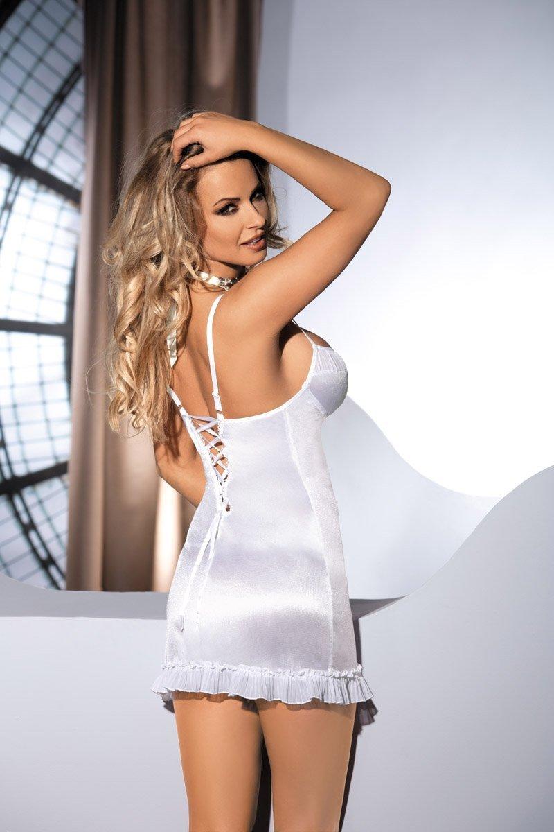 CHARLIZE CHEMISE biała koszulka nocna