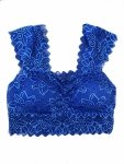 Top in pizzo  - Top corto - Sotto giacca blu