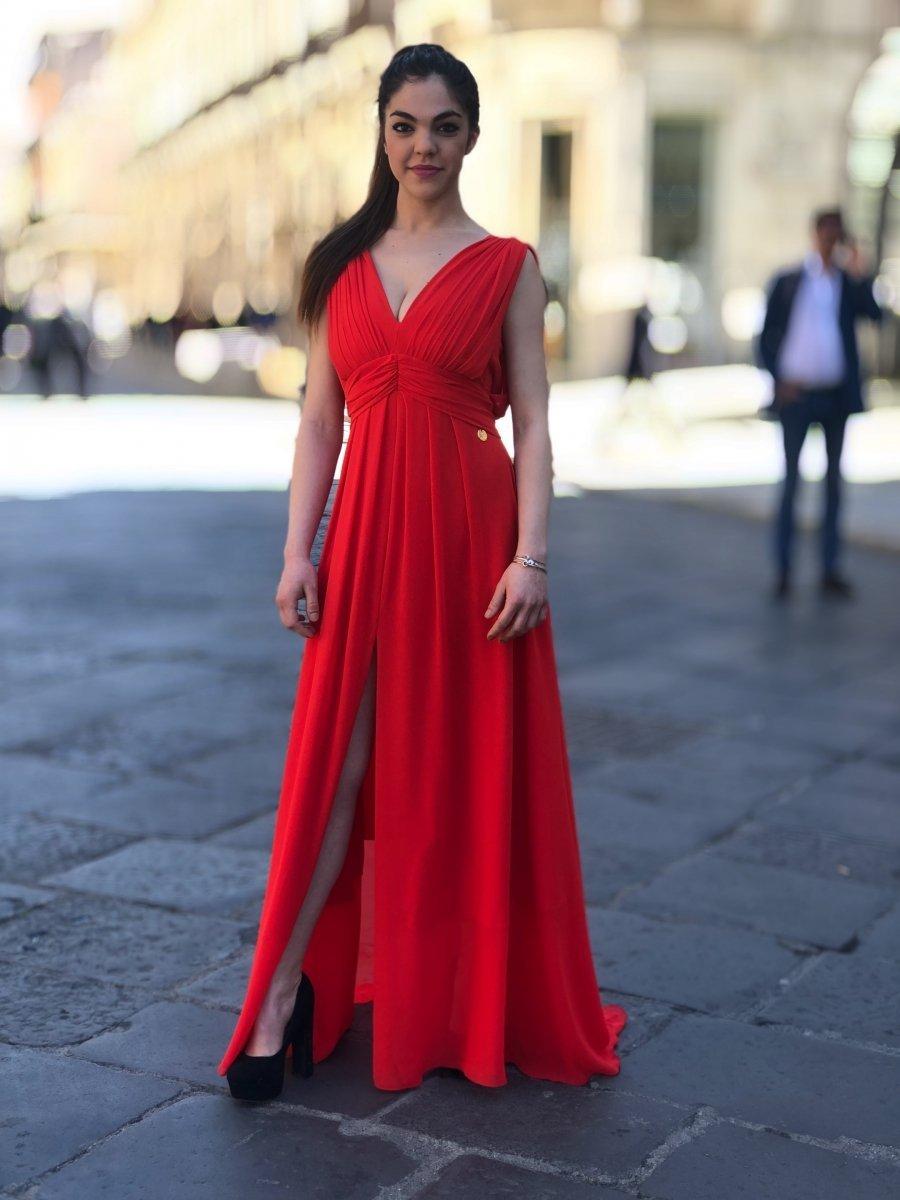 006e3dbf02b9 Vestito donna elegante - Vestito rosso - Abiti Tuwe - Gogolfun.it · Abito  da cerimonia - Rosso - Abito lungo - Abiti online ...