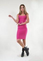 Tubino donna rosa - Abitino aderente sexy - Rosa confetto