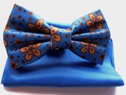 Papillon fantasia - con pochette -  Papillon azzurro