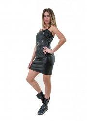 Abitino - Vestito ecopelle - Abito donna nero