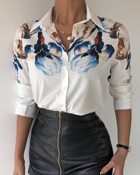 Camicia donna, elegante - Camicie donna, slim - Camicia bianca donna - Camicie donna - Gogolfun.it