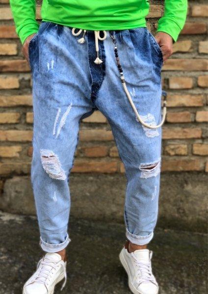 Jeans uomo, boyfit - Jeans, chiari particolari - Gogolfun.it