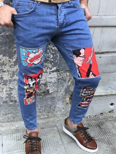 Jeans uomo - Jeans con toppe - Jeans uomo skinny, - Gogolfun.it