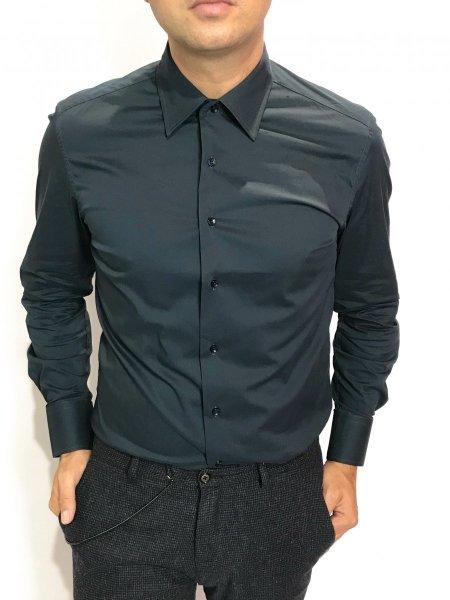 camicia slim, blu -Abbigliamento uomo gogolfun.it
