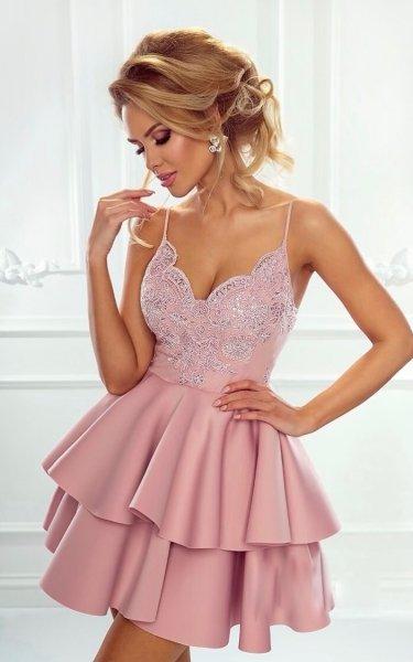 Vestito corto elegante, rosa - Vestiti corti, eleganti - Abbigliamento Goglfun.it