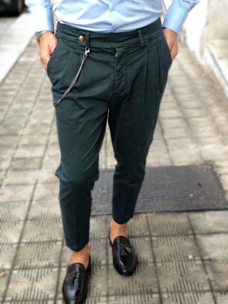 Spodnie męskie, zielone - Chinos - Paul Miranda - Made in Italy - Odzież męska - Gogolfun.pl