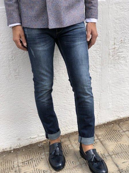 Jeans uomo, strappato - Key Jey, Skinny