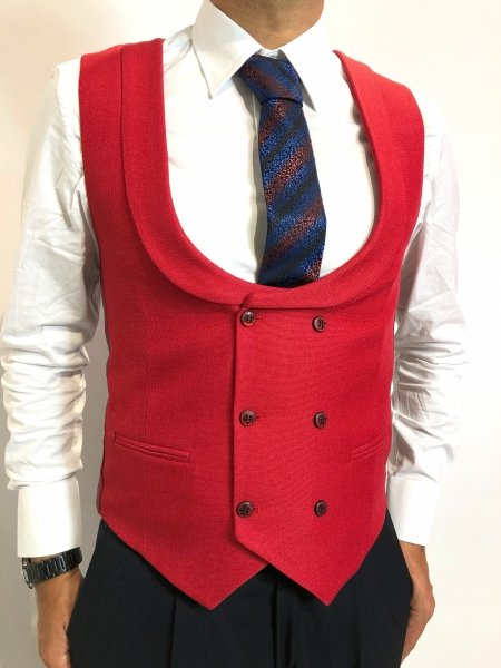 Gilet, rosso - Abbigliamento uomo gogolfun.it