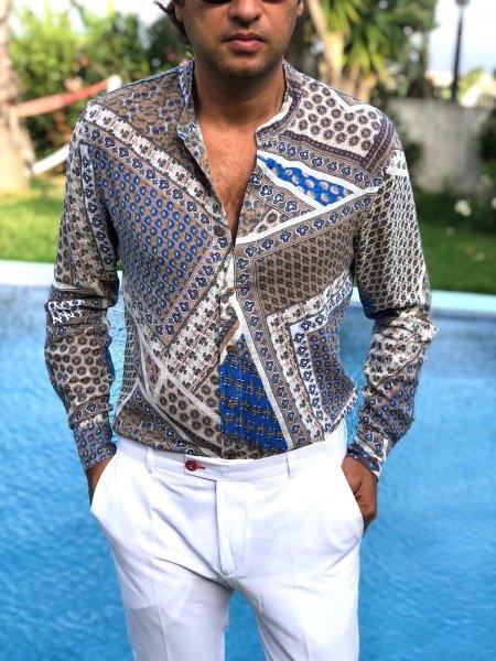 Camicia uomo fantasia - Manica lunga - Camicie particolari - Gogolfun.it