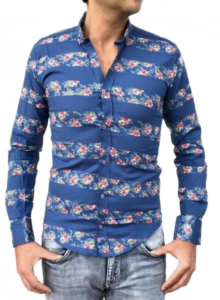 Camicia floreale uomo - Vestibilità slim - Camicie uomo Gogolfun.it