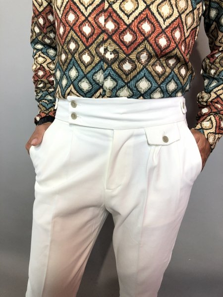 Pantaloni Bianchi, Made in Italy - Gogolfun.it