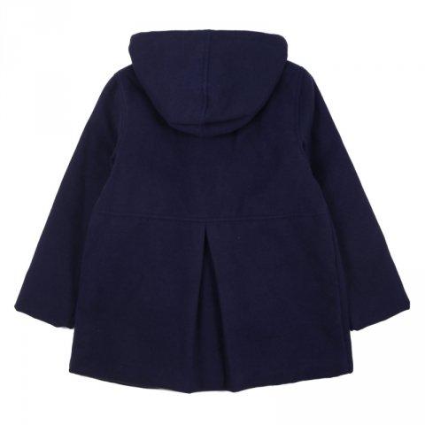 Cappotto bambina,blu con fiocco - My closet