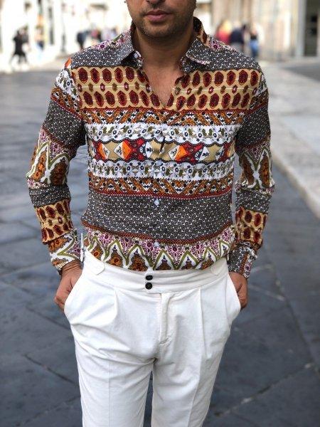 Spodnie męskie , białe - Paul Miranda - Made in Italy - Odzież męska - Gogolfun.pl