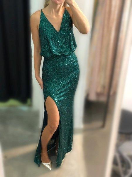 Vestito paillettese - Abito elegante a sirena - Vestito a sirena - Gogolfun.it