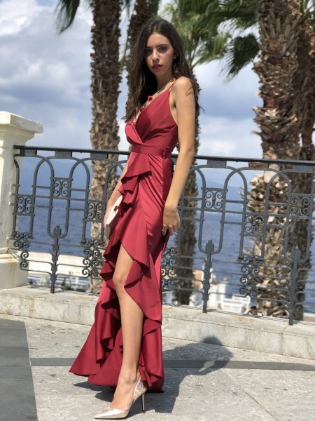 Vestito rosso Marylin - Abito da sera - Lungo - Gogolfun.it