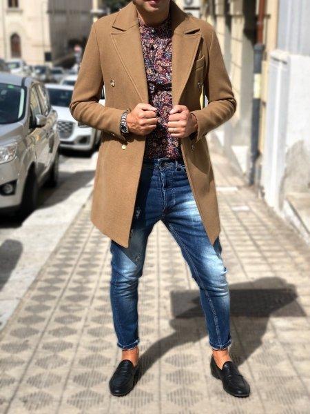 Jeansy męskie, model Capri - Niebieskie - Made in Italy - Odzież dla mężczyzn - Gogolfun.pl