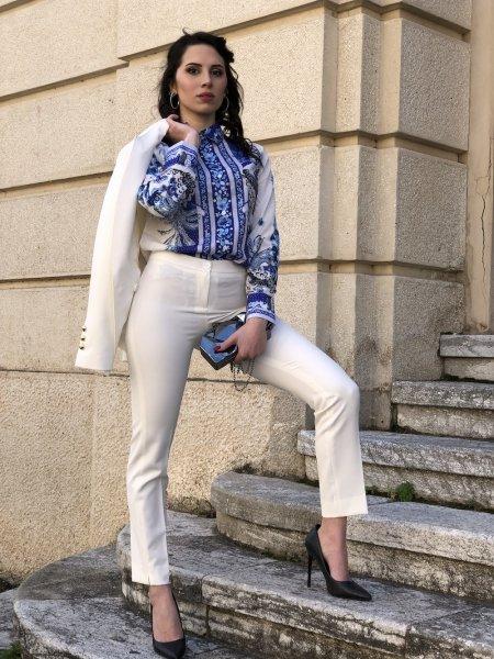 Tailleur bianco, giovanile - Con Pantaloni