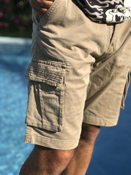 Bermuda uomo, tasconi - Colore beige
