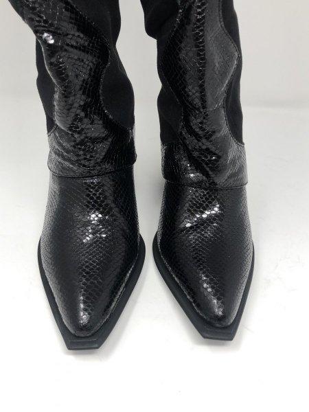 Texani neri, alti - Stivali neri -  Stivali texani  - Scarpe a reggio calabria gogolfun.it