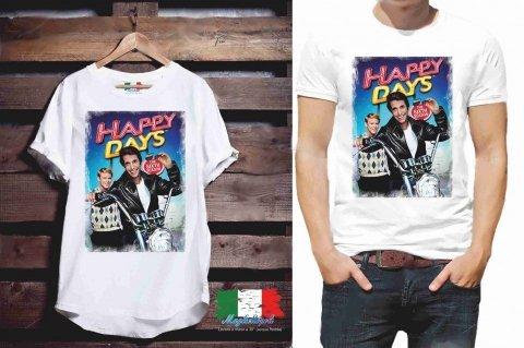 T shirt - Uomo - Donna - Happy Days - Gogolfun.it