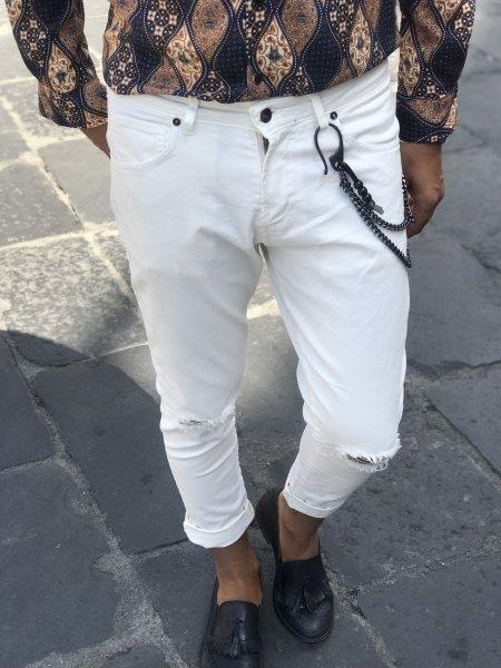 Biale spodnie meskie - Gogolfun.it