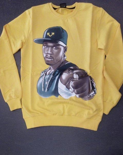 T shirt, gialla manica lunga - Sweater, 50 cent - Gogolfun.it