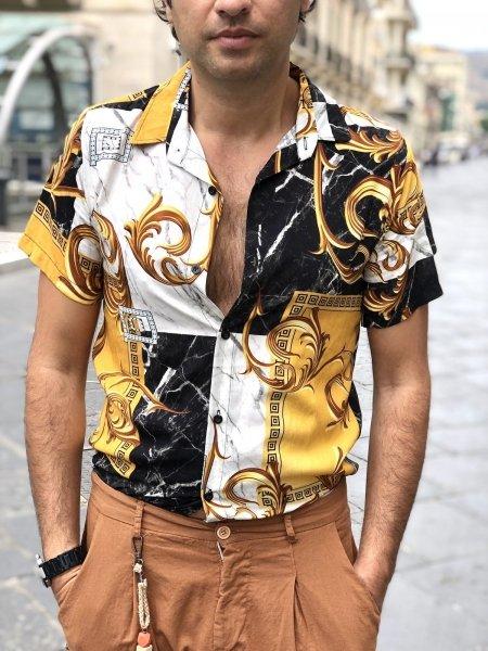 Camicia uomo disegno, disegno Versace - Camicia  uomo gogolfun.it