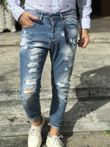 Jeans uomo strappati - Jeans uomo - Negozio di abbigliamento Gogolfun.it