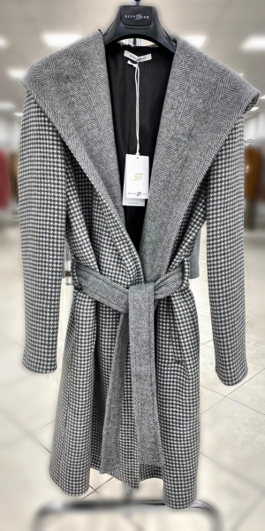 Cappotto, grigio con cappuccio  - Giubbotti Donna - Gogolfun.it
