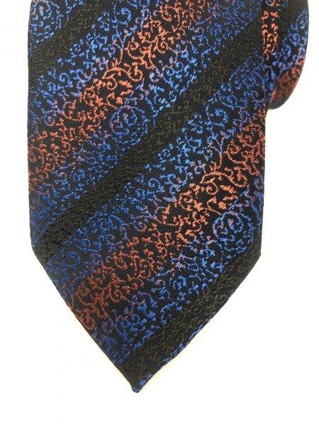 Krawat w paski - Niebieki - Krawat elegancki - Gogolfun.it