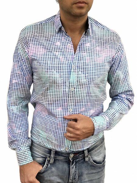 Camicia fantasia uomo - Regular -  Camicie uomo gogolfun.it