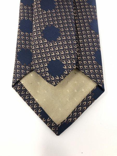 Cravatta uomo - Fantasia pois - Blu e marrone