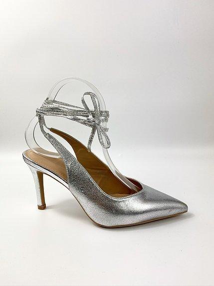 Sandali oro - Con tacco alto - Allacciato