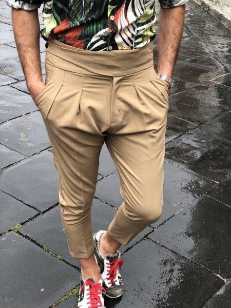 Pantaloni uomo - Cammello - Gogolfun.it