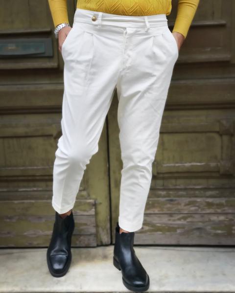 Pantaloni uomo, Bianchi - Paul Miranda - Pantaloni chino Gogolfun.it
