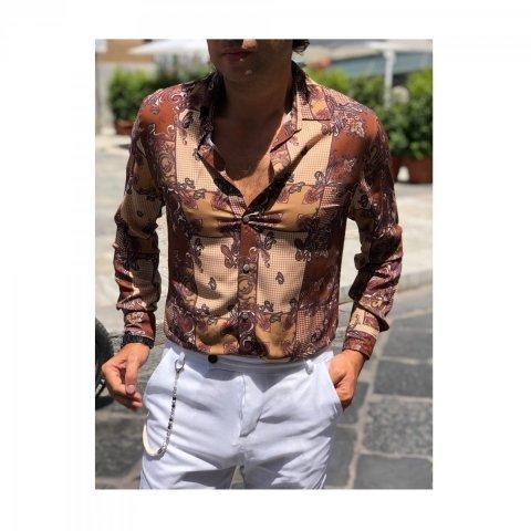Camicia uomo estiva, manica lunga - Abbigliamento uomo gogolfun.it