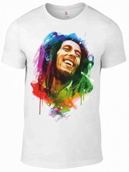 T shirt Bob Marley - Bianca - Uomo -Gogolfun.it