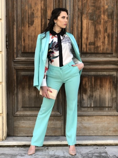 Tailleur elegante giovanile - Verde tiffany