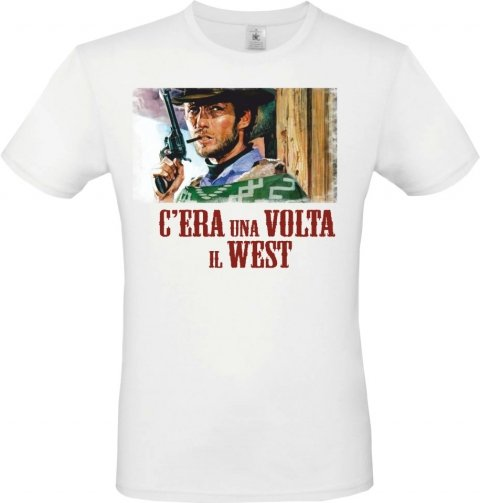 T shirt uomo bianca - Clint Eastwood - Gogolfun.it