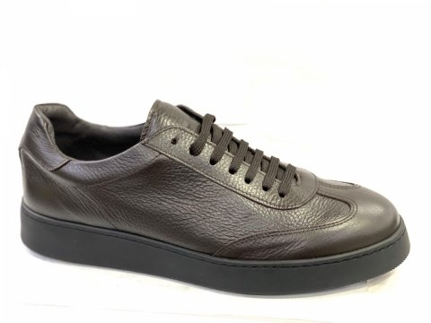 Sneakers uomo,  marroni -  Vera pelle