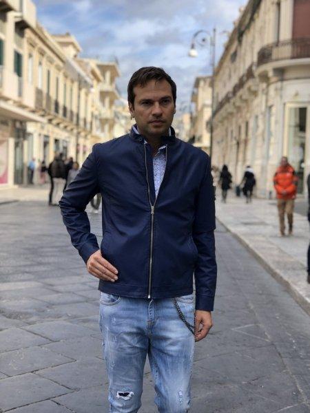 Giubbotto uomo - Giubbotti blu elettrico - Gogolfun.it