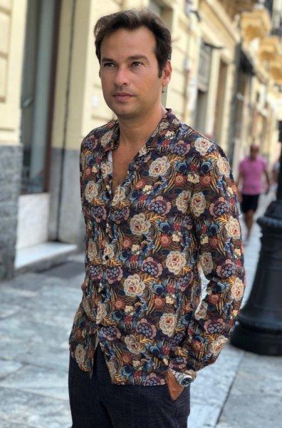 Camicie uomo - Camicie online - Camicia floreale - Gogolfun.it