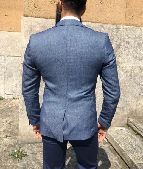 Blazer uomo - Blazer blu - Giacca elegante - Shop Gogolfun.it
