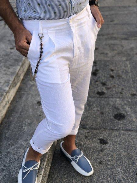 Pantaloni neri - lino
