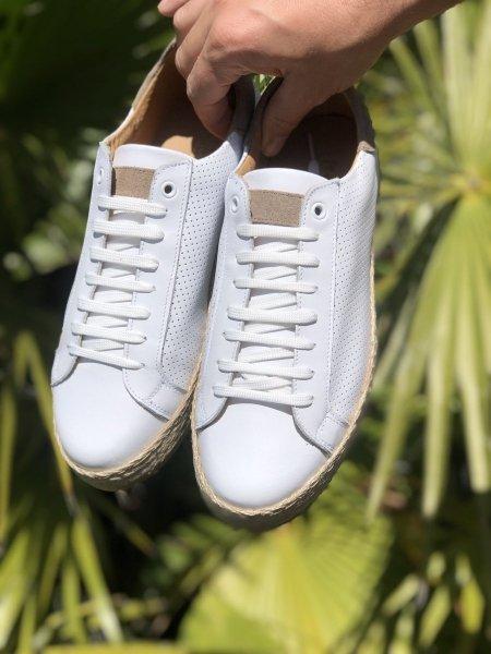 Scarpe bianche - Vera pelle - Made in Italy - Scarpe uomo -  Gogolfun.it