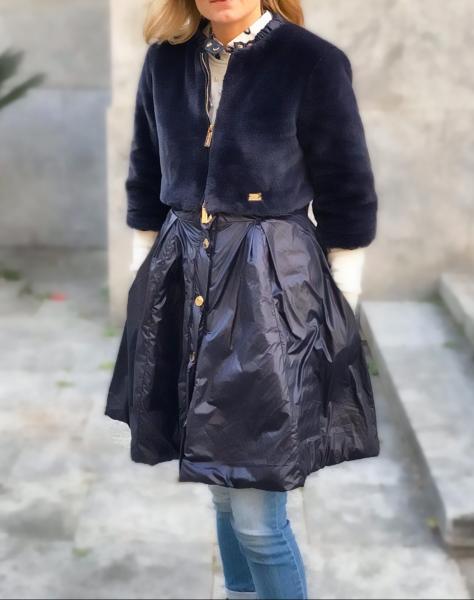 Roberta Biagi - Giubbotto nero - Scomponibile diventa Pellicciotto corto